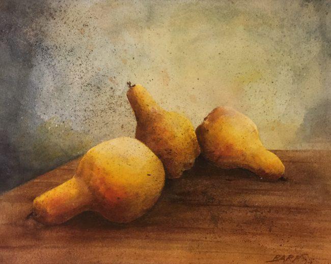 Pears in Watercolor